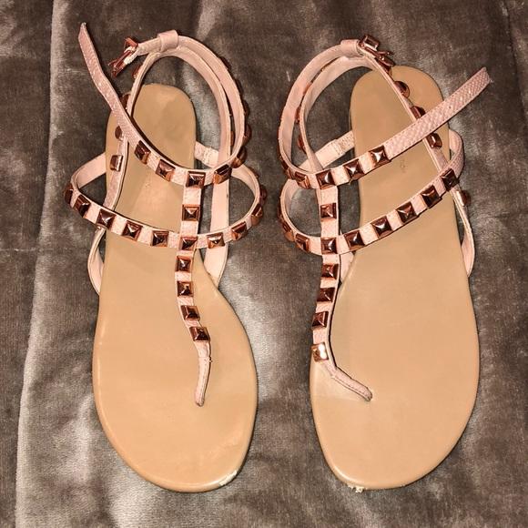 b49df6099753 BCBGeneration Shoes - BCBG Generation rose gold studded sandals